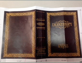"""Before"" image of book coverConcept art for a prop provided by the film"