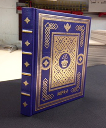 Foil stamping on a book made for a film