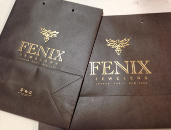 Foil stamping on bags